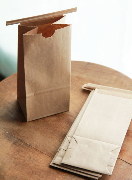 1/2 Pound Kraft Tin Tie Coffee Bags -  Set of 80-  Featured in Better Homes & Gardens  Magazine
