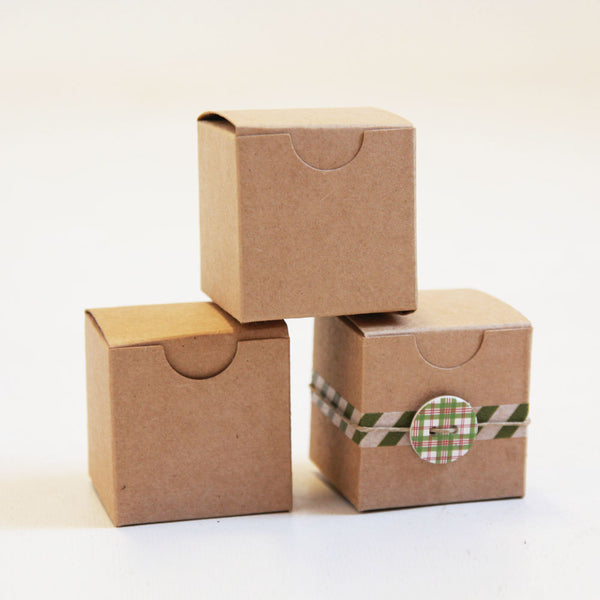 1 Sample Box- Kraft Natural Gift Box 2 x 2 x 2
