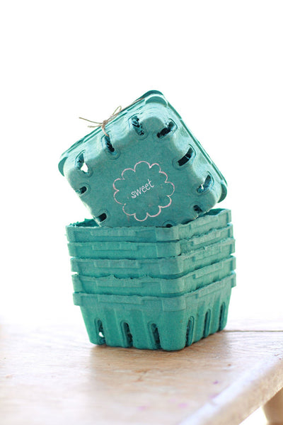 1 Sample Basket - 1/2 Pint Sized Berry Baskets made from Recycled Pulp