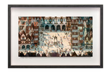 Load image into Gallery viewer, Town Square - Limited Edition Signed Print - Framed