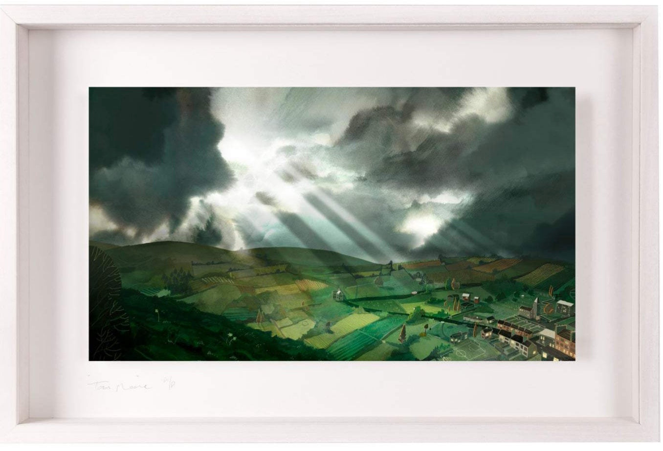 Leaving the City - Limited Edition Signed Print - Framed