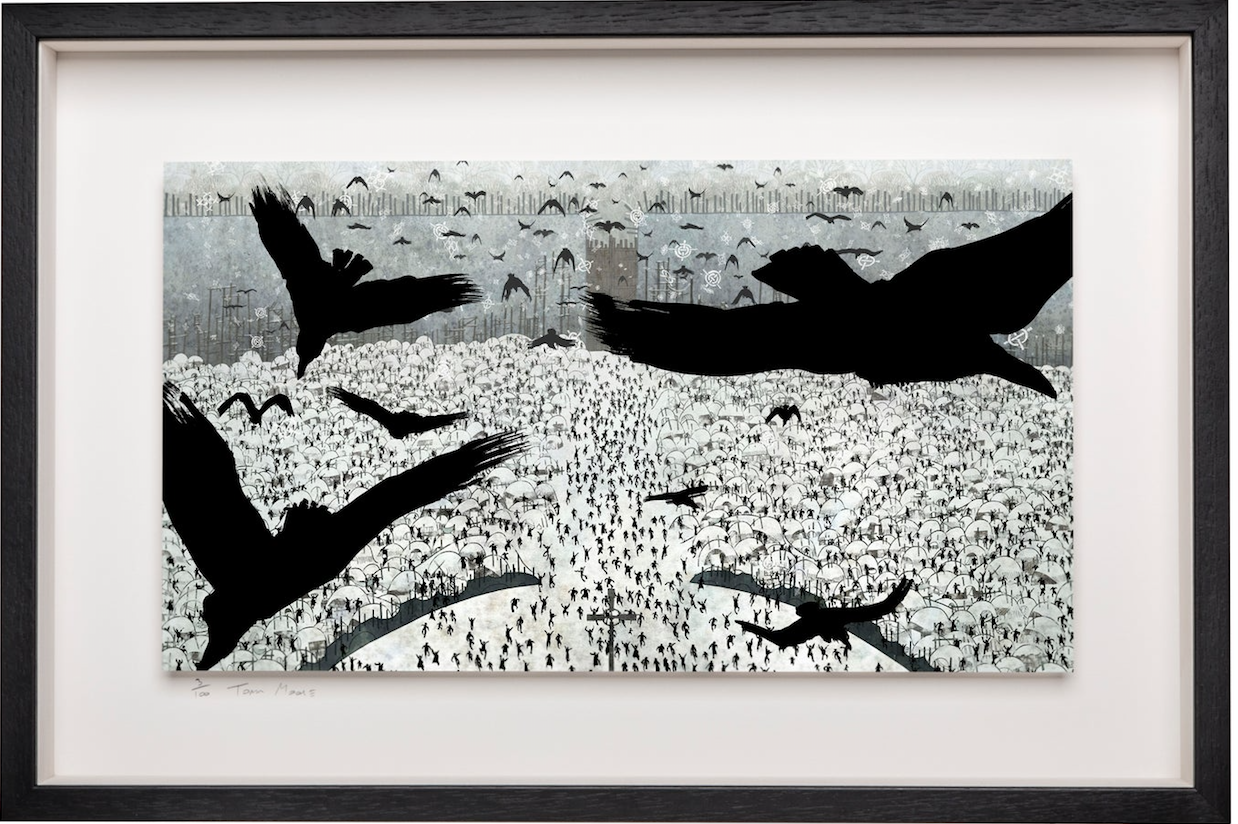 Ravens over Kells - Limited Edition Signed Print - Framed