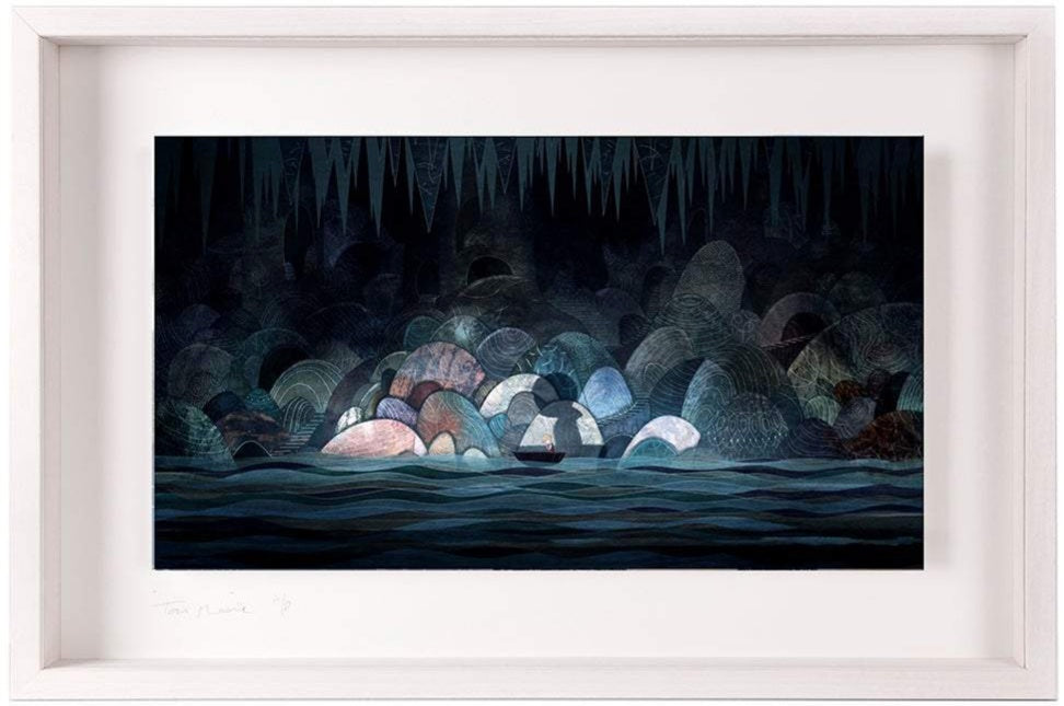 Underground River - Limited Edition Signed Print - Framed