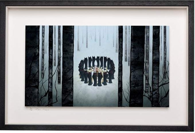 Circle of Wolves - Limited Edition Signed Print - Framed