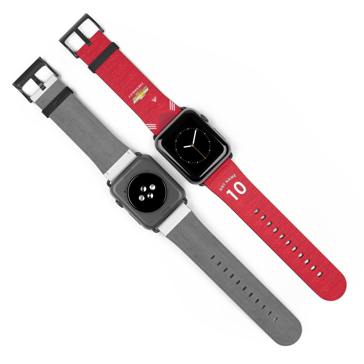 Personalised 2020/2021 Manchester United Home Kit Style Replacement iWatch Band