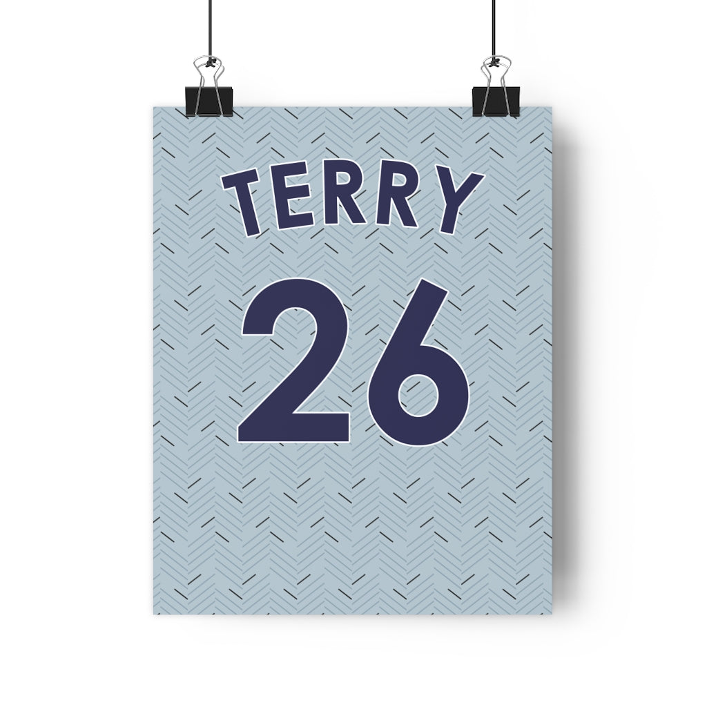Personalised 2020/2021 Chelsea Away Kit Style Poster