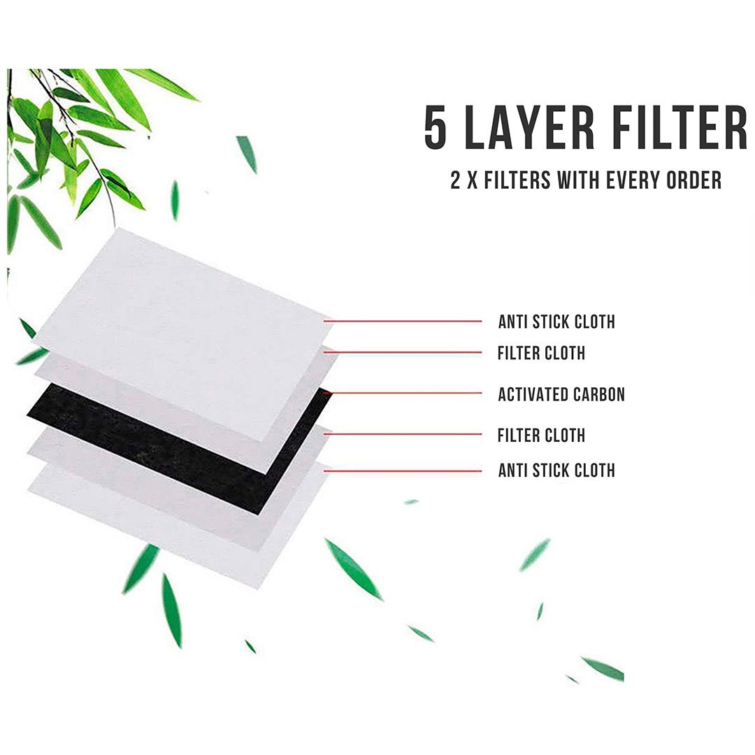 5 x Replacement Face Mask Carbon Filters