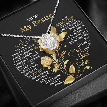 TO MY BESTIE - THANK YOU FOR STANDING BY MY SIDE- NECKLACE