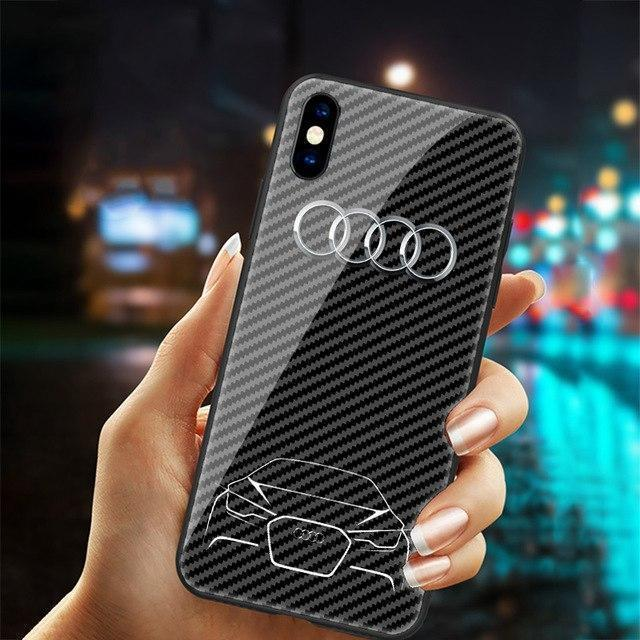Luxury Audi Carbon Fiber Style Phone Case