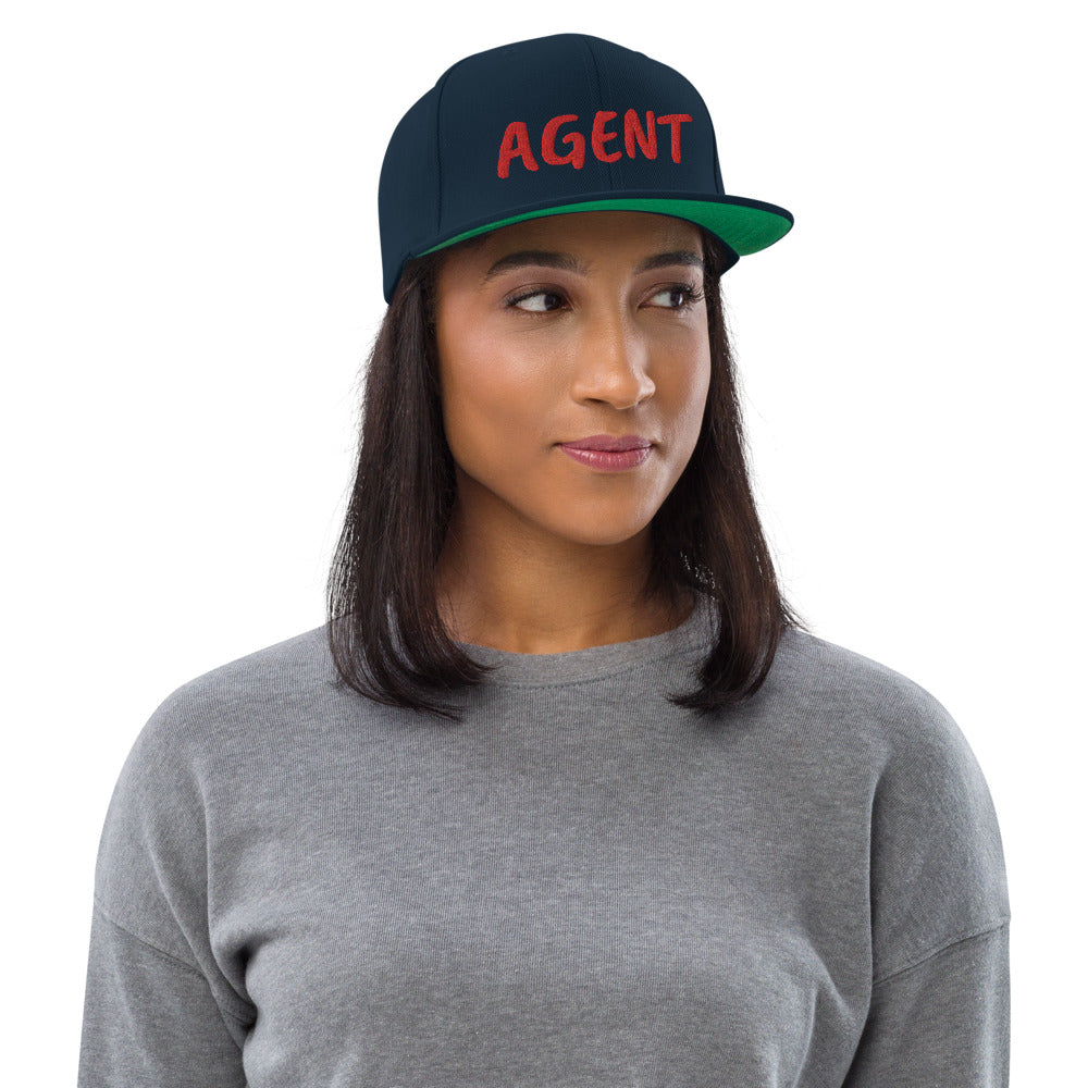 Agent Text Snapback Hat