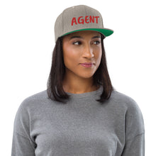 Load image into Gallery viewer, Agent Text Snapback Hat