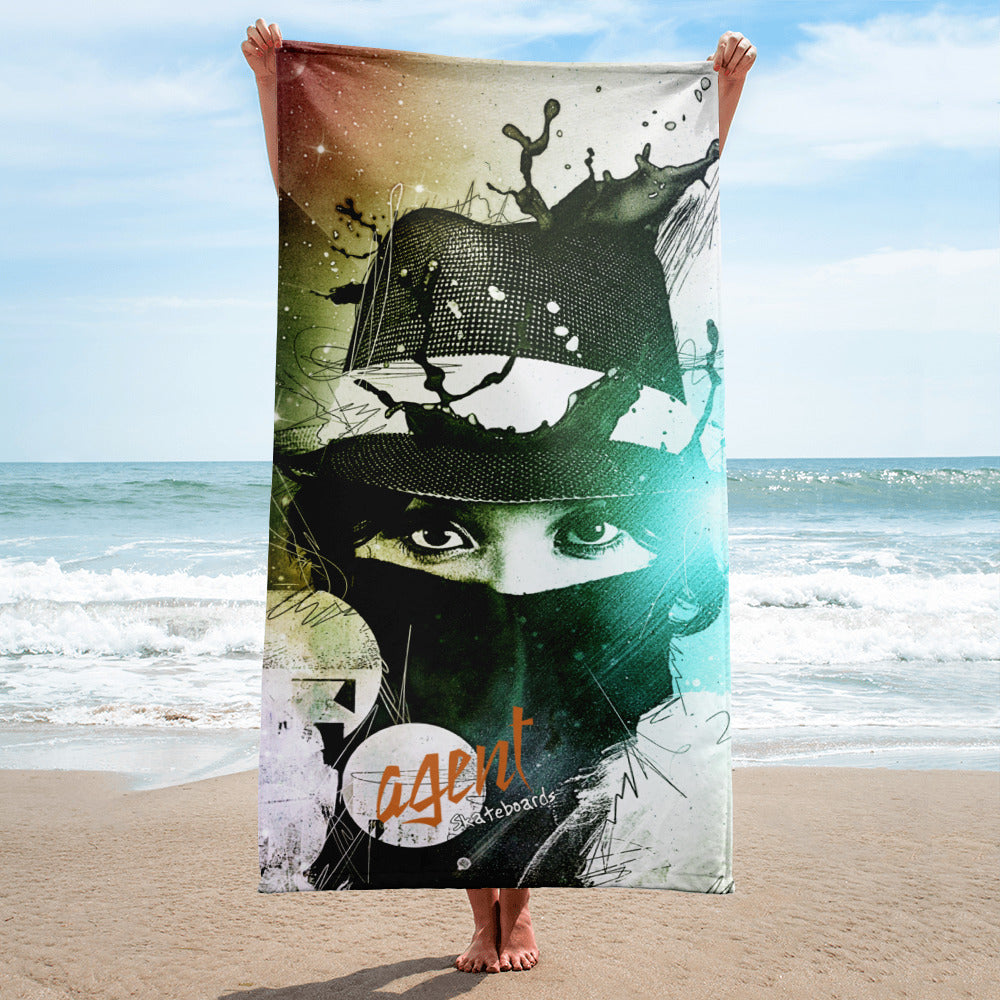 Agent Yellow Eyes Towel