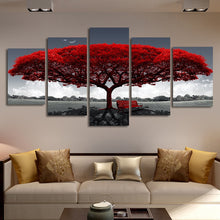 गैलरी व्यूवर में इमेज लोड करें, 5 Pieces Picture Tree Canvas Art Print Oil Painting Wall Pictures for Living Room Paintings Home Wall Decor