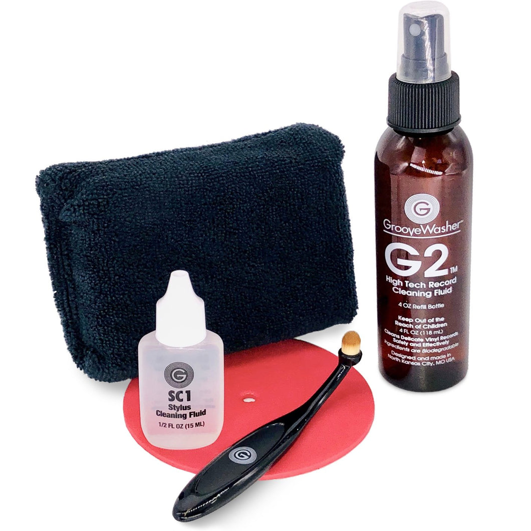 GrooveWasher RSC Record & Stylus Care System - Record & Stylus Cleaner Kit