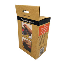 Load image into Gallery viewer, GrooveWasher Record Cleaning Kit Walnut handle w/ replaceable pad, 4oz. G2 Fluid