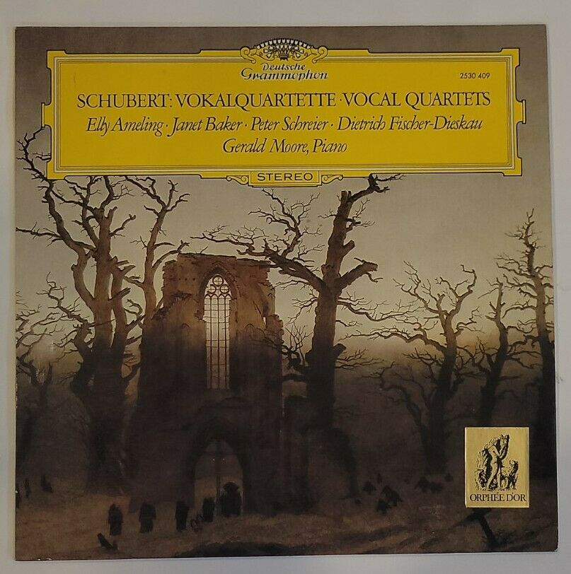 Schubert Vocal Quartets/ Germany / Moore / Fischer-Dieskau etc LP DG 2530 409