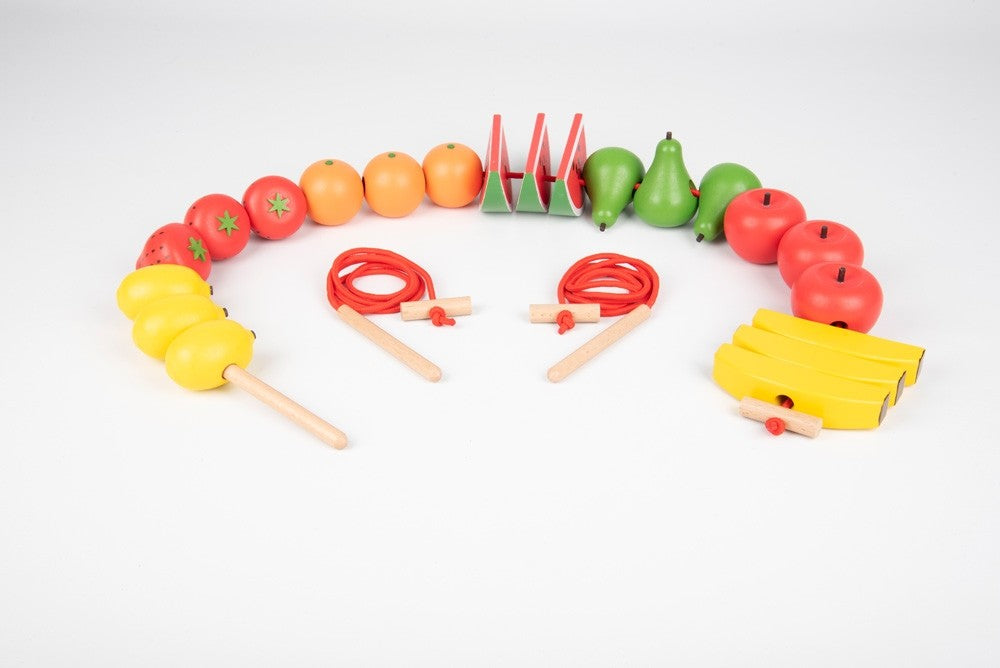 Tickit Wooden Lacing Fruits