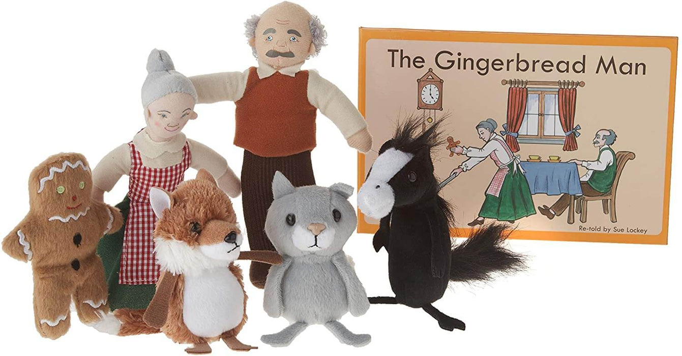 The Gingerbread Man Book and Finger Puppets