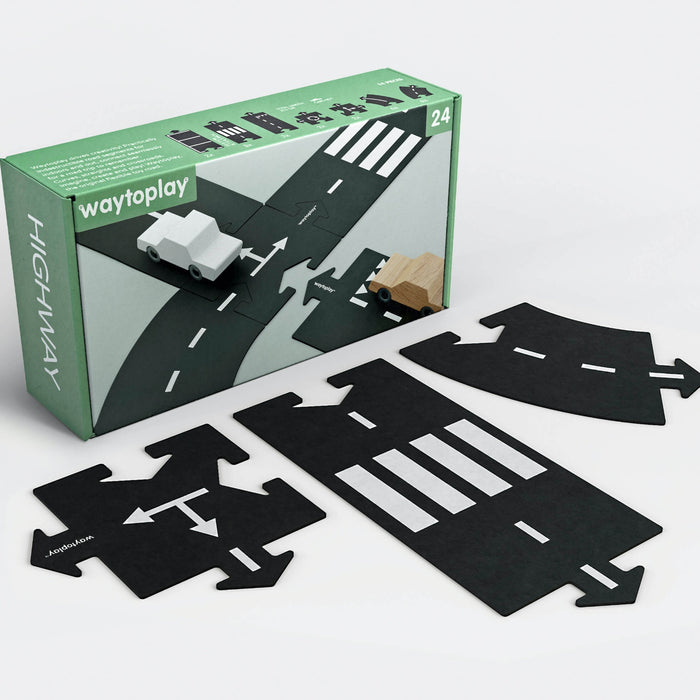 Way to Play Flexible Roads - HIGHWAY 24pcs