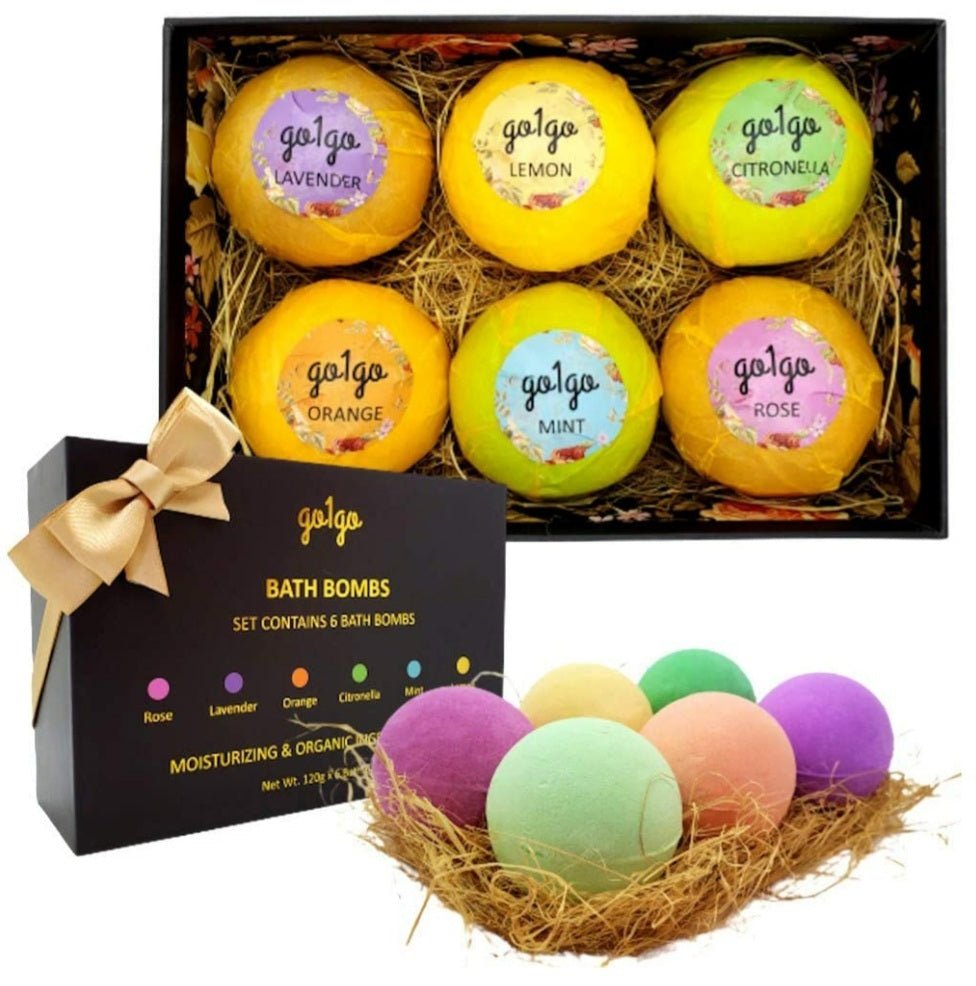 Bath Bombs Luxury Gift Set for Moisturizing Dry Skin