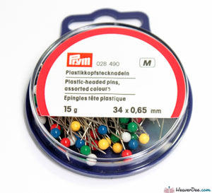 Prym Dressmakers Pins - Plastic heads 26 mm x 0.65 mm