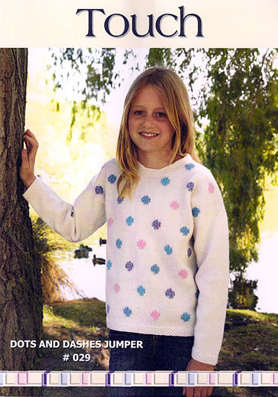 Touch Knitting Pattern - Dots and Dashes Jumper