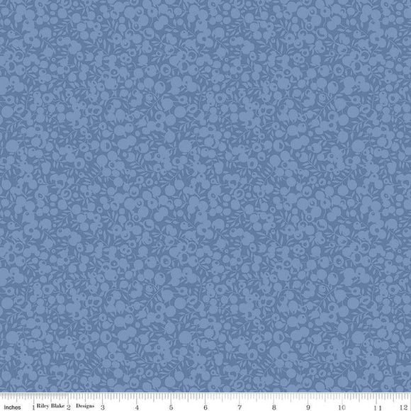 Liberty Fabrics Wiltshire Shadow Blender Collection - 5695 Denim