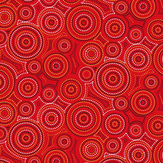 Malkamalka - Aboriginal Dot Art in Desert Colourway