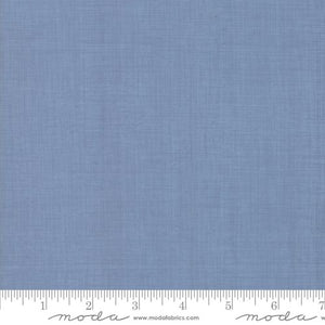 French General Lawns - Linen Texture Blender in Woad Blue