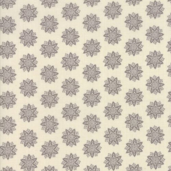 French General Fleur De Noel Collection - Anemone in Pearl and French Grey