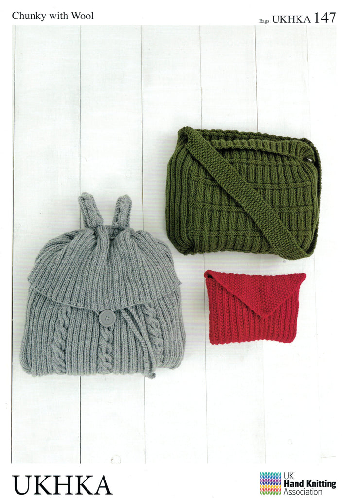 UKHKA 147 - Easy Knit Bags in Chunky / 12-ply