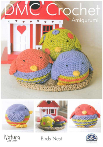 DMC Crochet Pattern - Amigurumi Birds and Nest
