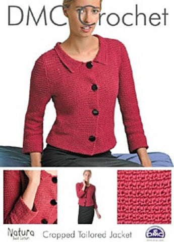 DMC Crochet Pattern - Ladies Cropped Tailored Jacket