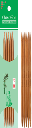 ChiaoGoo - 15 cm Double Pointed Bamboo - Patina colour