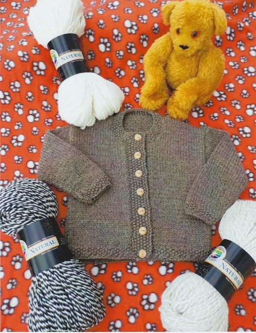 Countrywide Knitting Pattern P168 - Child's Cardigan in Chunky / 14-ply for ages