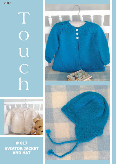 Touch Knitting Pattern - Babies Aviator Jacket and Hat