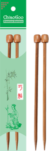 ChiaoGoo - Bamboo straight needles - 18 cm Patina colour