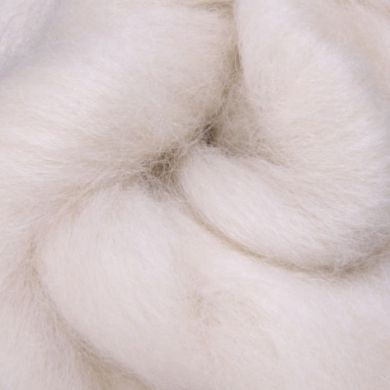 Corriedale Fibre - Natural, Undyed White, 30 micron, 100 gram bag