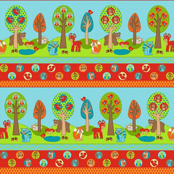 Woodland Park - Border fabric