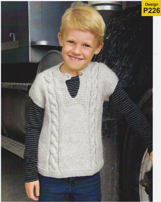 Countrywide Knitting Pattern P226 - Childs Chunky Short-Sleeved Pullover in Chunky / 14-ply for ages