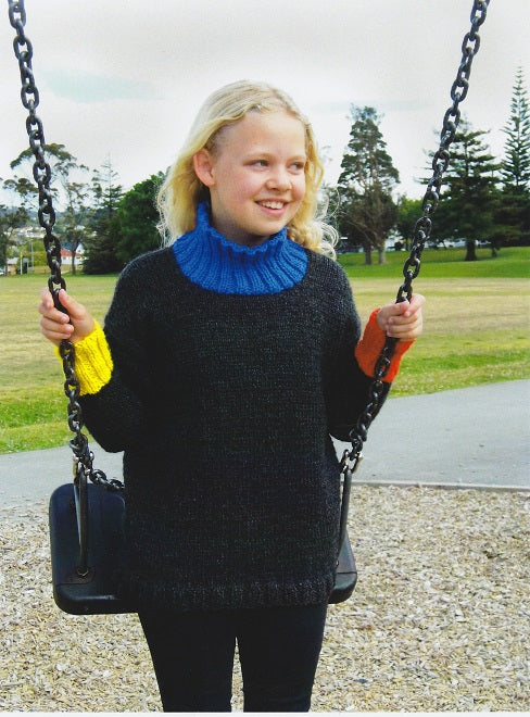 Countrywide Knitting Pattern P244 - Childs Winter Sweater in Chunky / 14-ply for ages 2-10 years