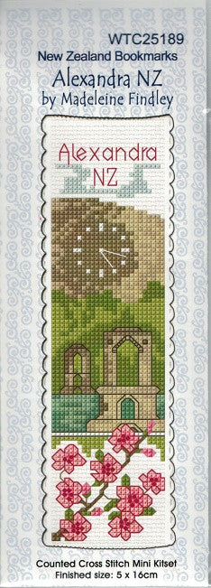 Cross-stitch bookmark - Alexandra