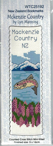 Cross-stitch bookmark - Mackenzie Country