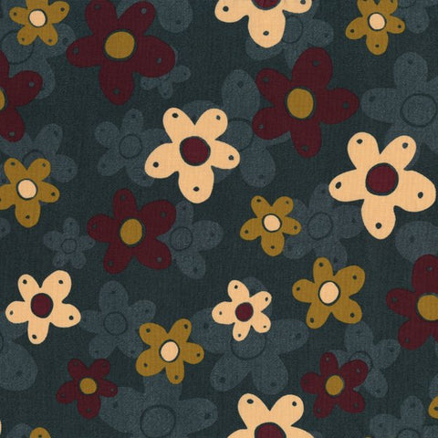 Highlands - Large flowers on Navy