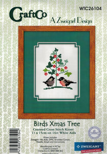 Cross-stitch kit -  Birds by the Christmas Tree