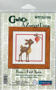 Cross-stitch kit - Fawn's First Christmas