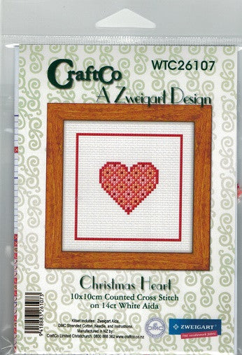 Cross-stitch kit - Christmas Heart
