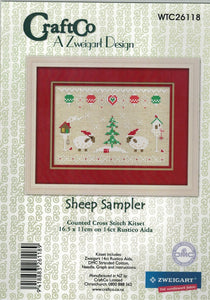 Cross-stitch kit - Christmas Sheep Sampler