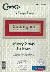 Cross-stitch kit - Merry Christmas to Ewes