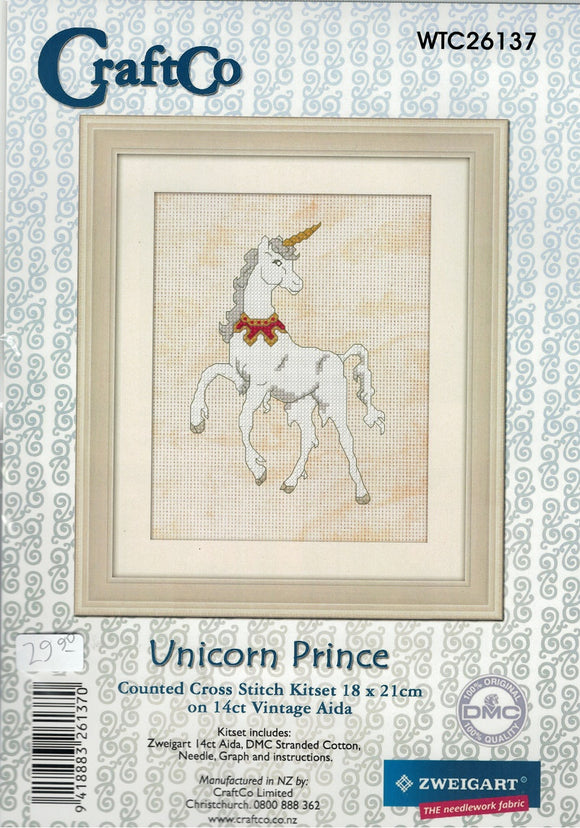 Cross-stitch kit - Unicorn Prince